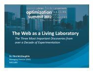 The Web as a Living Laboratory: How MECLABS uses Internet ...