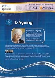 Treatment of Delirium - E-Ageing