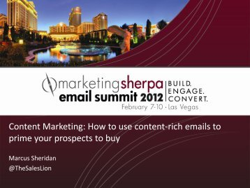 Content Marketing: How to use content-rich emails to ... - meclabs