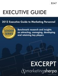 2012 Executive Guide to Marketing Personnel - meclabs