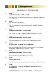 Correspondence Agenda - Ordinary Council Meeting - 9 July 2013