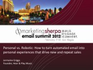 Personal vs. Robotic: How to turn automated email into ... - meclabs