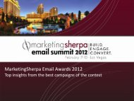 MarketingSherpa Email Awards 2012 - meclabs