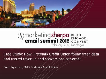 Case Study: How Firstmark Credit Union found fresh data ... - meclabs