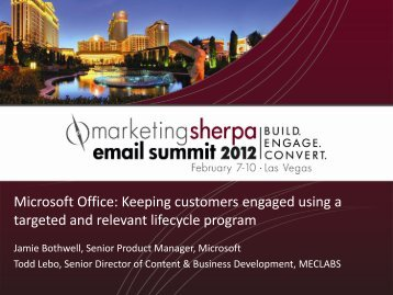 Microsoft Office: Keeping customers engaged using a ... - meclabs