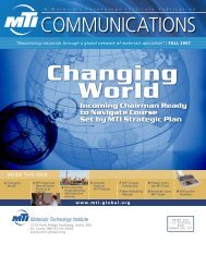 Changing World - Materials Technology Institute