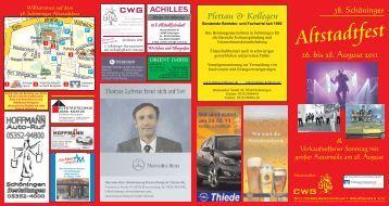 Informationen zum Altstadtfest - Volksbank Helmstedt eG