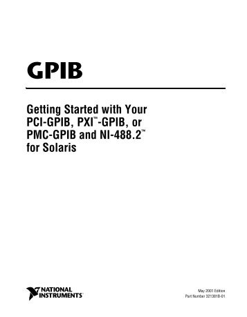 Getting Started With Your PCI-GPIB - National Instruments