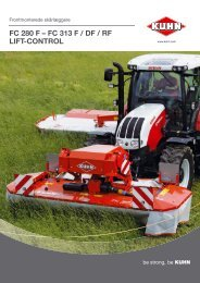 fc 313 f / df / rf lift-control - Kuhn do Brasil Implementos Agricolas