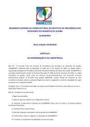 REGIMENTO INTERNO DO CONSELHO FISCAL DO INSTITUTO ...
