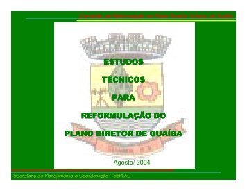 Estudos Urbanos Realizados pela Comissão de Reformulação do ...