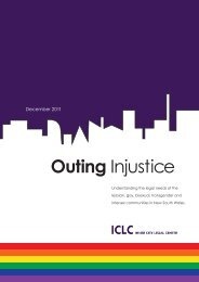 Outing Injustice - Inner City Legal Centre