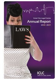load the 2008 - 2009 Annual Report - Inner City Legal Centre