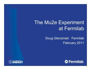 The Mu2e Experiment at Fermilab - HEP