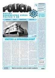 POLICIA 02 2004 c.qxd - Odborový zväz polície v Slovenskej republike