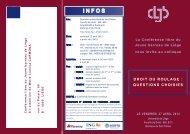 Informations et inscriptions - Barreau de Bruxelles