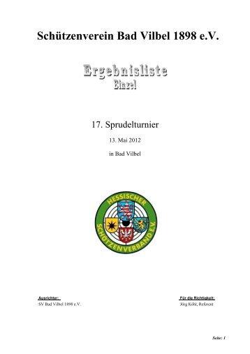 Einzelwertungen - Schützenverein Bad Vilbel 1898 eV