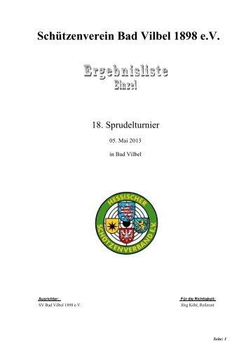 Ergebnisse Einzel - Schützenverein Bad Vilbel 1898 eV