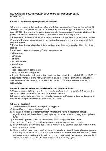 Informativa Imposta di Soggiorno (54 KB) - Comune di Riccione