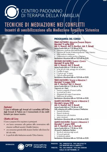Tecniche di Mediazione nei conflitti.pdf - Centro padovano di terapia ...