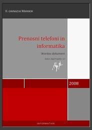 Prenosni telefoni in informatika - II. gimnazija Maribor