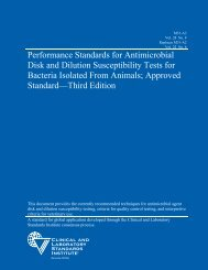 Performance Standards for Antimicrobial Disk and Dilution ...