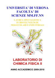 Laboratorio di Chimica Fisica II 2009-2010 (pdf, it, 126 KB, 10/8/09)