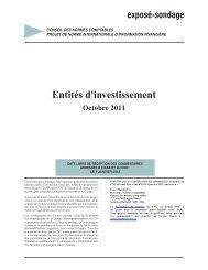 Entités d'investissement - Normes d'information financière et de ...