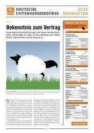 Bekenntnis zum Vertrag - Deutsche Unternehmerbörse dub.de GmbH