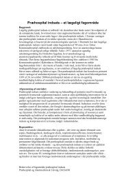 Præhospital indsats – et lægeligt fagområde