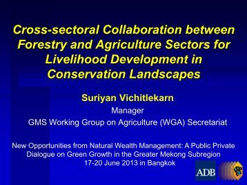 Cross-sectoral Collaboration between Forestry and ... - GMS-EOC