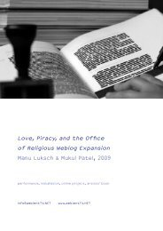 Love, Piracy, and the Office of Religious Weblog ... - Lo-res.org