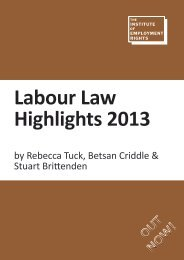 Labour Law Highlights 2013 - The Institute of Employment Rights