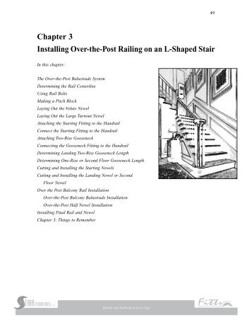 Chapter 3 Installing Over-the-Post Railing on an L-Shaped Stair - Fitts