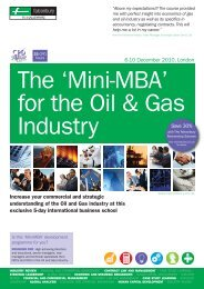 Oil & Gas MBA - Mildwaters Consulting LLP