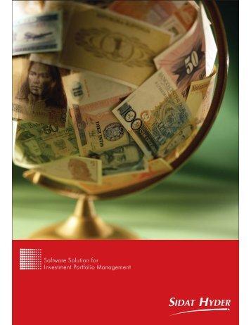 Software Solution for Investment Portfolio Management - Sidat Hyder