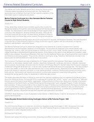 Fisheries Related Educational Curriculum - Alaska Job Center ...