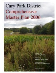 00-CoverPage, TableContents, Preface - Cary Park District