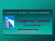 Corporate Careers (Career Stream 4) - Alaska Job Center Network
