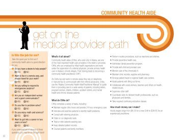get on the medical provider path - Alaska Job Center Network