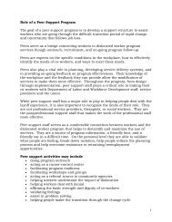 1 Role of a Peer Support Program The goal of a peer support ...