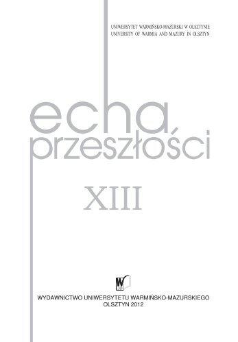 wydawnictwo uniwersytetu warmińsko-mazurskiego olsztyn 2012
