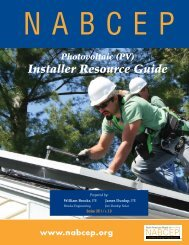 Photovoltaic (PV) Installer Resource Guide - nabcep
