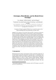 Ontologies, Meta-Models, and the Model-Driven Paradigm - CiteSeerX