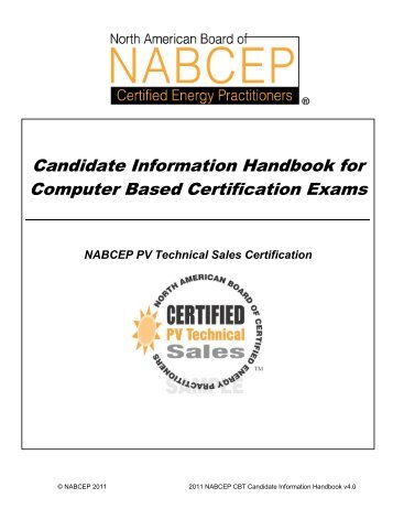 nabcep entry level exam candidate information sheet