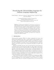 Domain-Specific Metamodelling Languages for ... - Steffen Zschaler