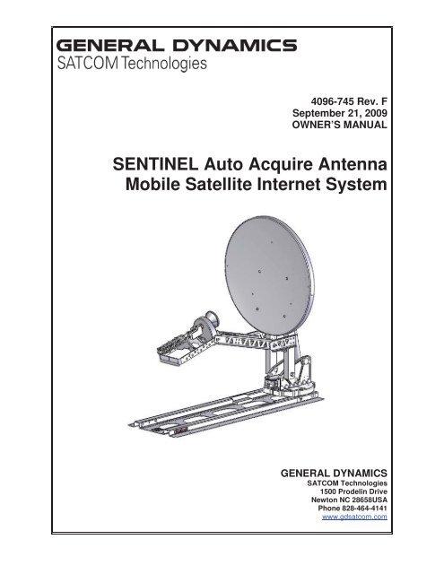 SENTINEL Auto Acquire Antenna Mobile Satellite Internet