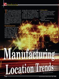 Manufacturing Location Trends