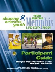 Memphis Town Meeting Participant Guide - Shaping America's Youth