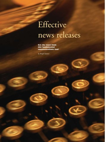 Effective News Releases - Active for Life
